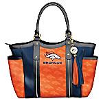Touchdown Broncos Tote Bag