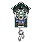 Michigan State Spartans College Football Cuckoo Clock