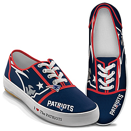 I Love The NFL New England Patriots Women's Canvas Shoes