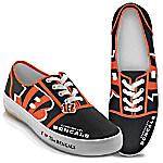 I Love The Cincinnati Bengals Women's Canvas Shoes