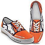 I Love The Denver Broncos Women's Canvas Shoes
