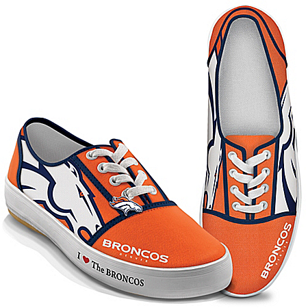 I Love The NFL Denver Broncos Women's Canvas Shoes