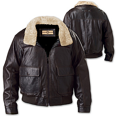 Wing Command Men's Leather Aviator Jacket