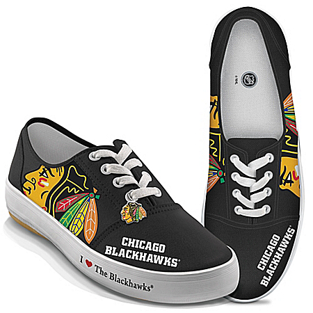 I Love The Chicago Blackhawks® Women's Canvas Shoes