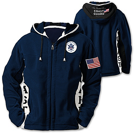 Coast Guard Pride Hooded Fleece Men's Jacket