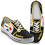 I Love The Pittsburgh Steelers Women's Canvas Shoes