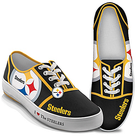 I Love The NFL Pittsburgh Steelers Women's Canvas Shoes