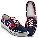 I Love The Houston Texans Women's Canvas Shoes