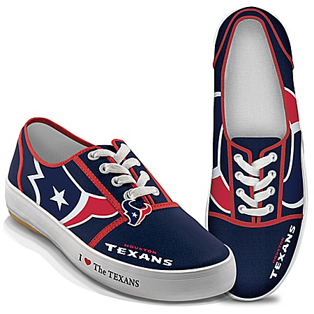 I Love The NFL Houston Texans Women's Canvas Shoes