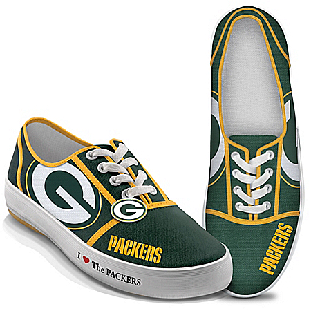 I Love The NFL Green Bay Packers Women's Canvas Shoes