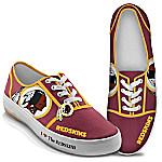 I Love The Washington Redskins Women's Canvas Shoes