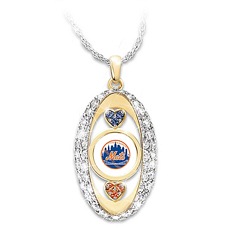 For The Love Of The Game New York Mets Pendant Necklace