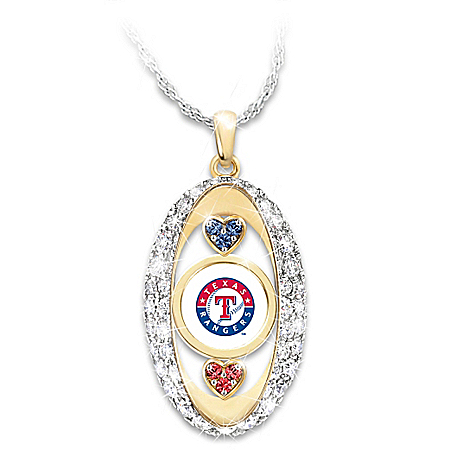 For The Love Of The Game Texas Rangers Pendant Necklace