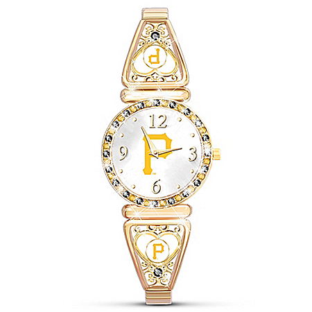 My Pittsburgh Pirates MLB Women's Gold-Tone Plated Watch