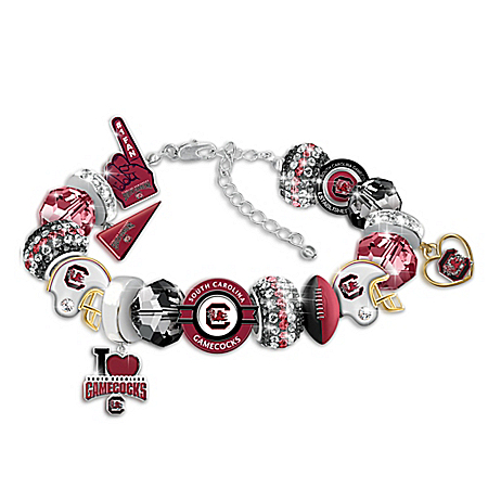 South Carolina Gamecocks Fashionable Fan Women's Charm Bracelet