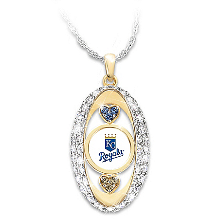 For The Love Of The Game Kansas City Royals Pendant Necklace