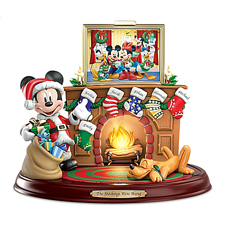The Disney The Stockings Were Hung...Musical Personalized Sculpture