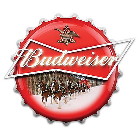 Budweiser Bottle Cap Marquee Sign Wall Decor