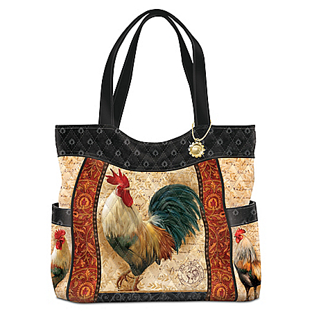 Country Charm Quilted Tote Bag