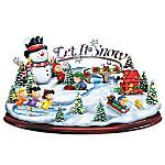 PEANUTS Let It Snow Illuminated Holiday Sculpture