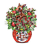 Always In Bloom Rudolph The Red-Nosed Reindeer Illuminated Table Centerpiece
