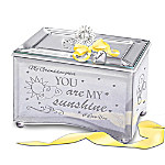 Granddaughter, You Are My Sunshine Personalized Mirrored Glass Music Box