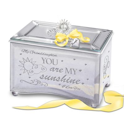 Bradford Exchange Granddaughter, You Are My Sunshine Personalized Mirrored Glass