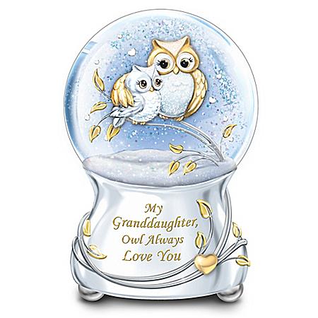 My Granddaughter, Owl Always Love You Glitter Globe