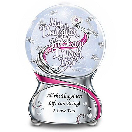 My Daughter-In-Law, I Wish You Glitter Globe