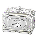 My Daughter, I Love You Silver-Plated Personalized Music Box