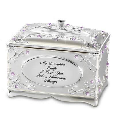 Bradford Exchange My Daughter, I Love You Silver-Plated Personalized