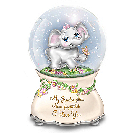 Granddaughter, Never Forget That I Love You Musical Glitter Globe