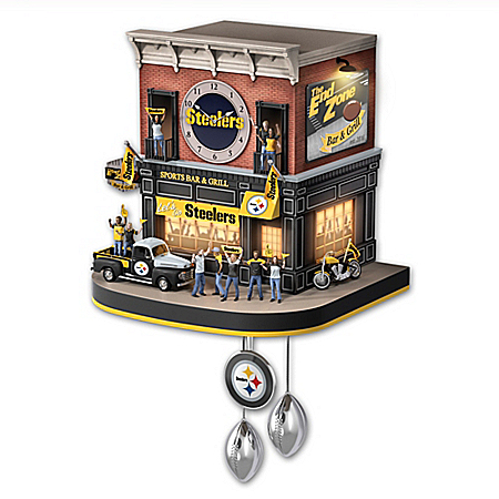 Pittsburgh Steelers NFL Fan Celebration Cuckoo Clock