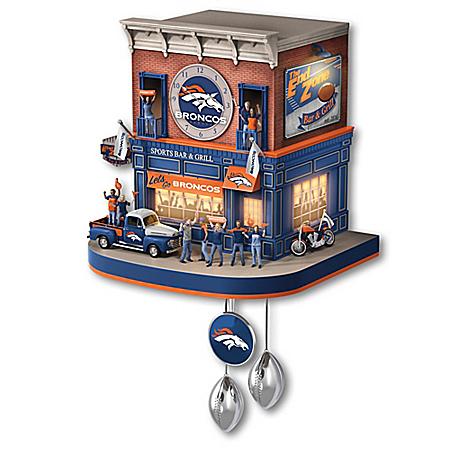 Denver Broncos NFL Fan Celebration Cuckoo Clock