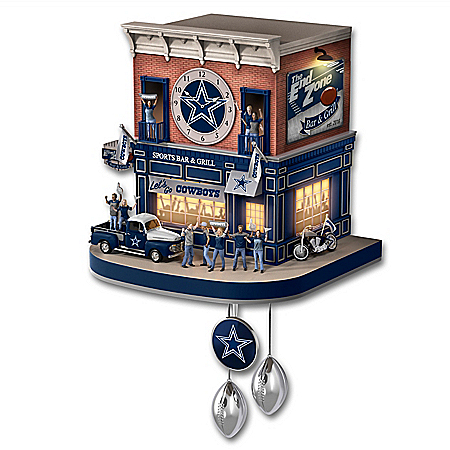 Dallas Cowboys Fan Celebration NFL Cuckoo Clock
