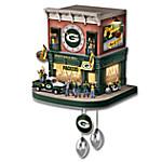 Green Bay Packers Fan Celebration NFL Cuckoo Clock