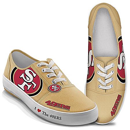 I Love The NFL San Francisco 49ers Women's Canvas Shoes