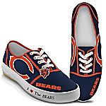 I Love The Chicago Bears Women's Canvas Shoes