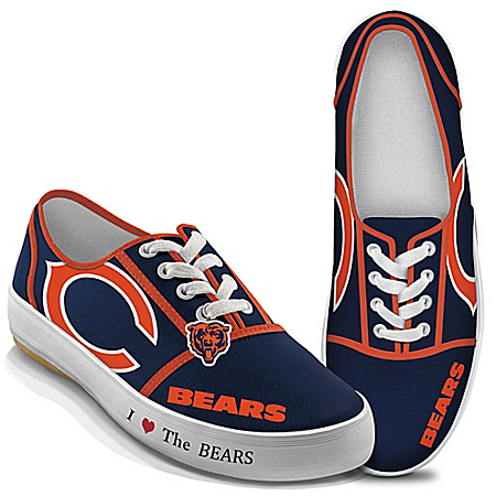 I Love The NFL Chicago Bears Women's Canvas Shoes