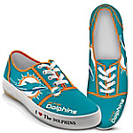 I Love The Miami Dolphins NFL Women's Shoes