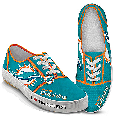 I Love The NFL Miami Dolphins Women's Canvas Shoes