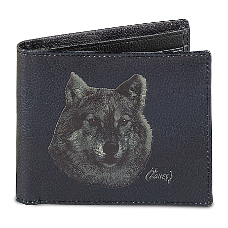 Lone Wolf Men's RFID-Blocking Leather Wallet