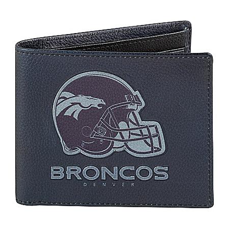 NFL Denver Broncos Men's RFID Blocking Leather Wallet