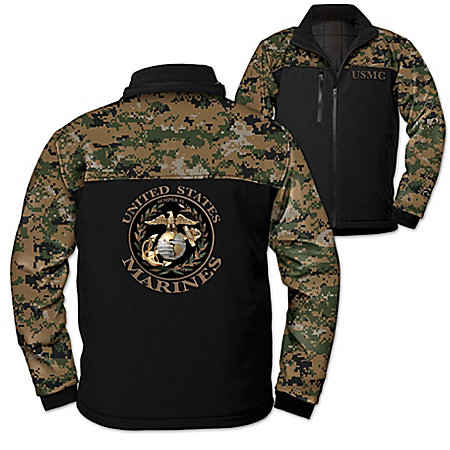 U.S. Marine Corps Spirit Men's Softshell Camo Jacket