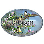 Songbird Serenade Personalized Outdoor Welcome Sign