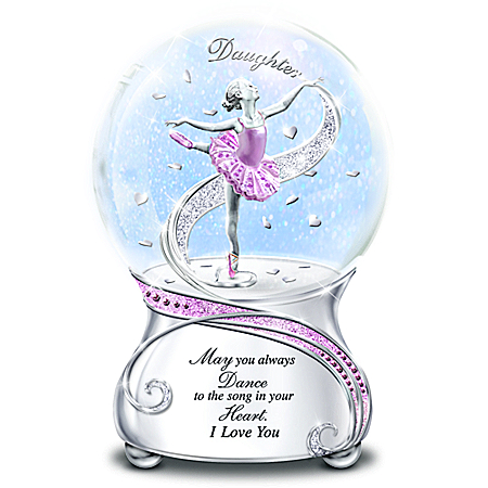 My Daughter, May You Always Dance Glitter Globe