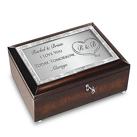 Personalized Bridal Music Box