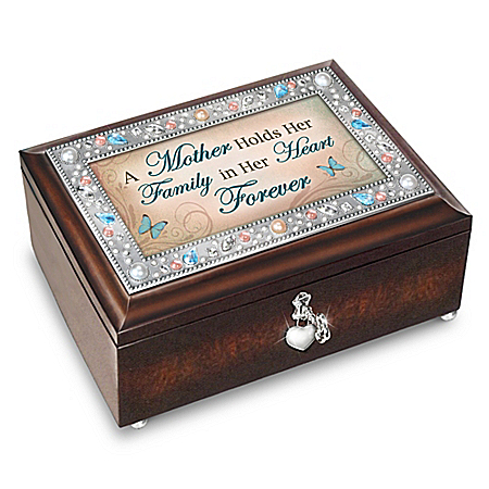Image of A Mother's Forever Love Heirloom Music Box With Poem Card