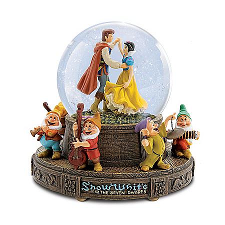 Disney Snow White And The Seven Dwarfs Musical Glitter Globe