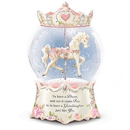 Granddaughter, You're A Dream Come True Glitter Globe